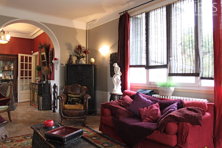 Coloured and oriental double living room c0732