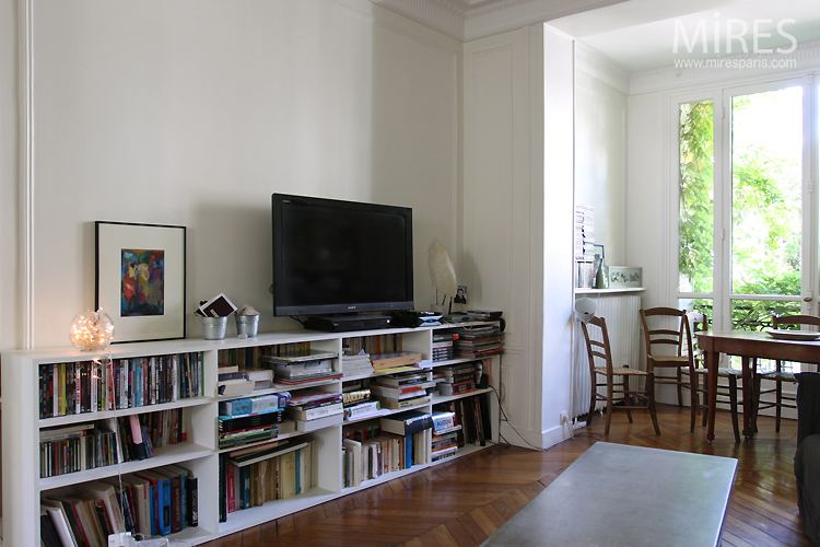 TV lounge with library. C0749
