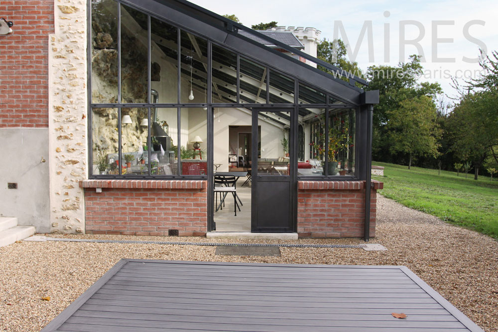 Long Veranda Brick And Metal C0775 Mires Paris
