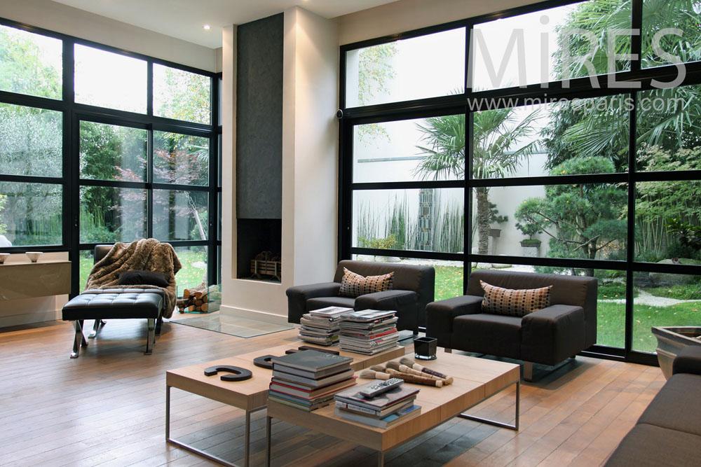 Maison de ville moderne avec jardin zen. C0777 | Mires Paris