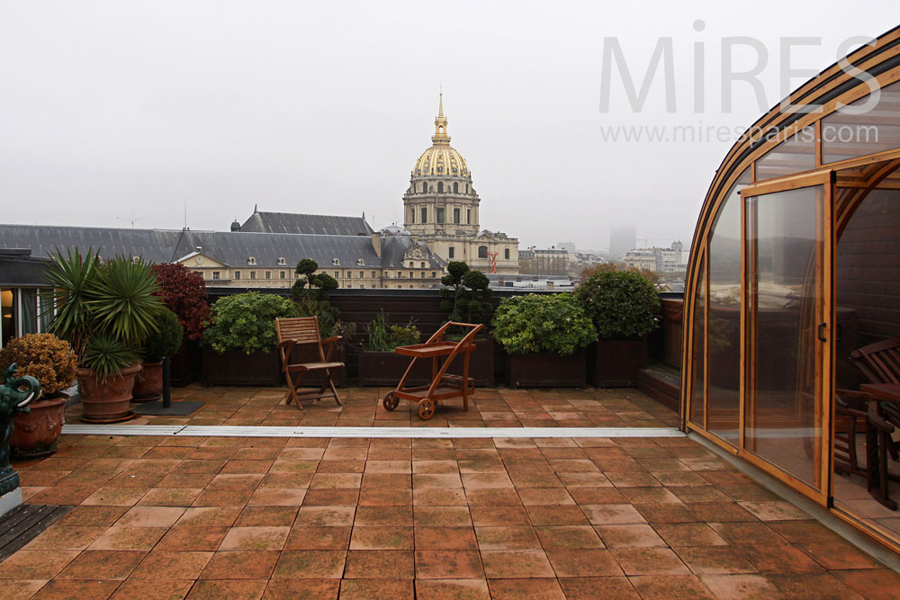 Winter garden with onthe Invalides. C0783