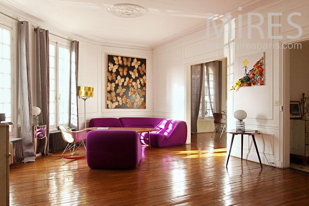 Salon lumineux 70 s c0789 mires paris - Salon lumineux ...