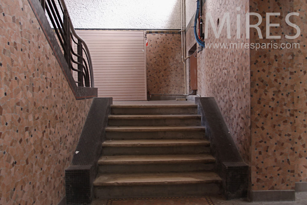 Double access staircase to the swimpool. C790