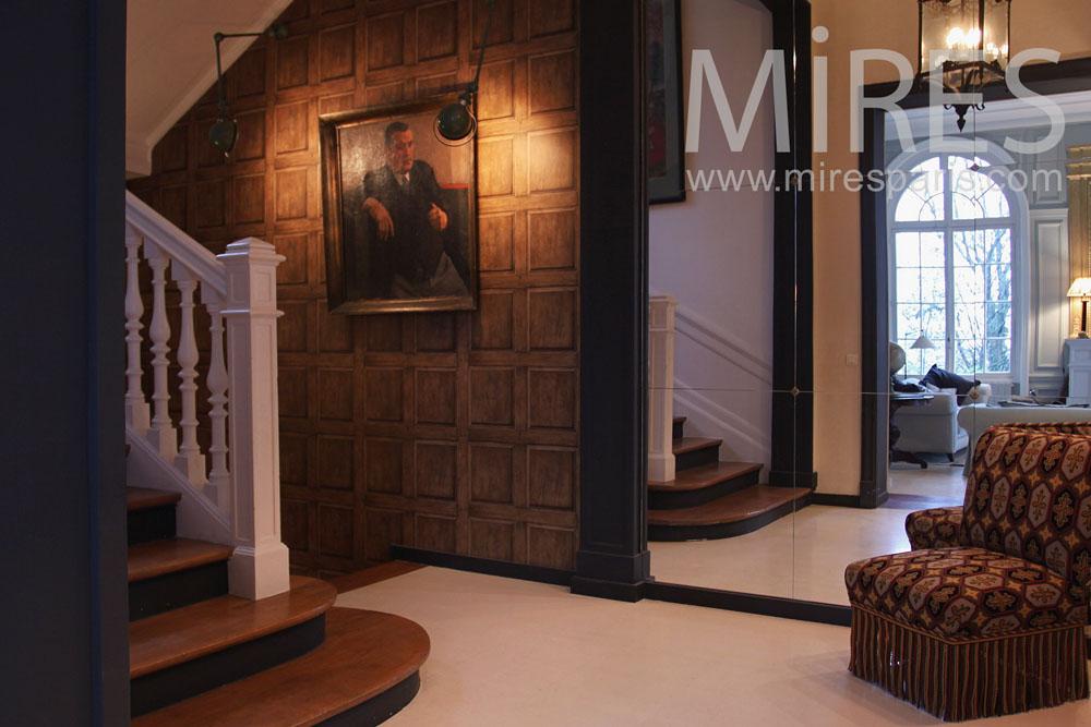 entr e en trompe l oeil c0802 mires paris. Black Bedroom Furniture Sets. Home Design Ideas
