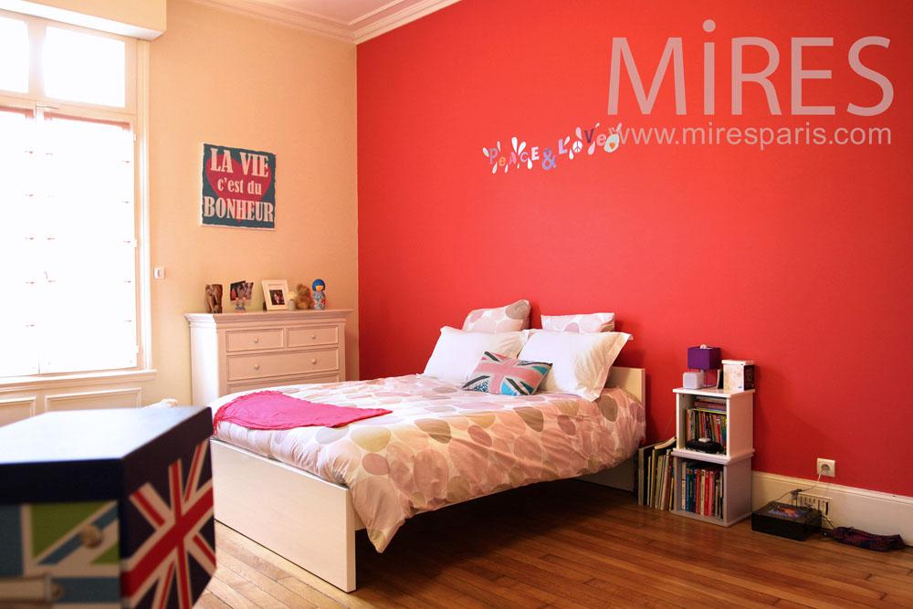 Chambre colorée et sa salle de bains mosaïque. C0820 | Mires Paris