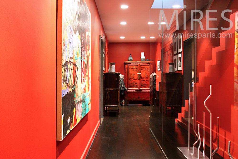 Couloir tendance orange. C0827   Mires Paris