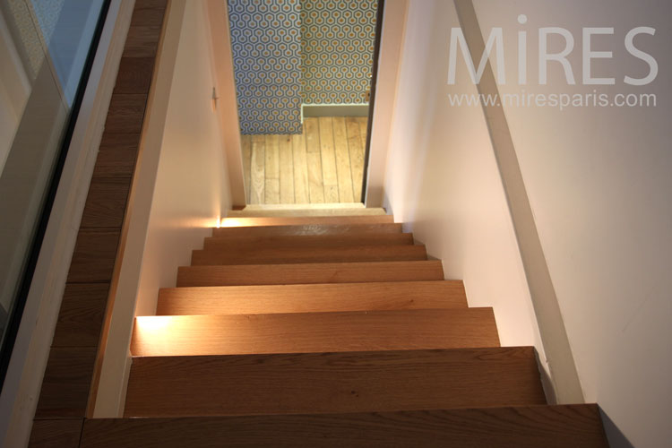 Wooden staircase. C0833