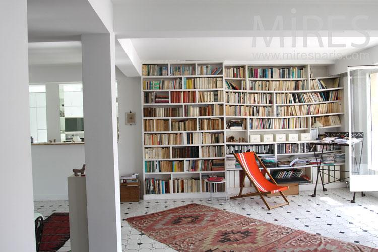 Marbre De Cuisine : Salon bibliothèque c mires paris