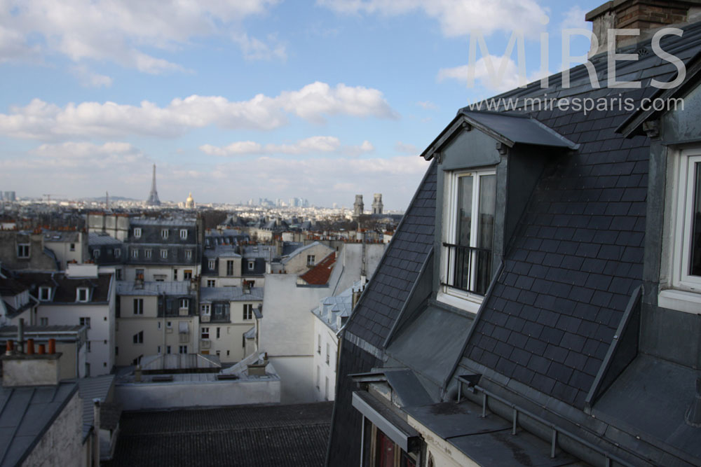 On the attic flat with view over Paris. C0835