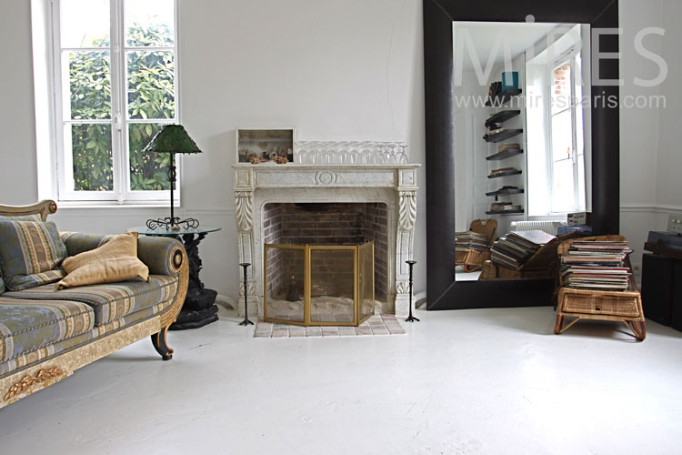 Marble fireplace. C0838