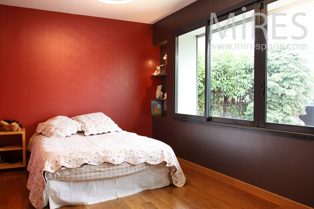 Trendy chambre rouge noire et blanche c with chambre blanche et rouge - Chambre blanche et rouge ...