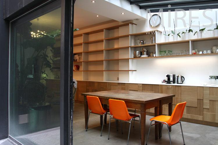 Kitchen under glass roof. C0848