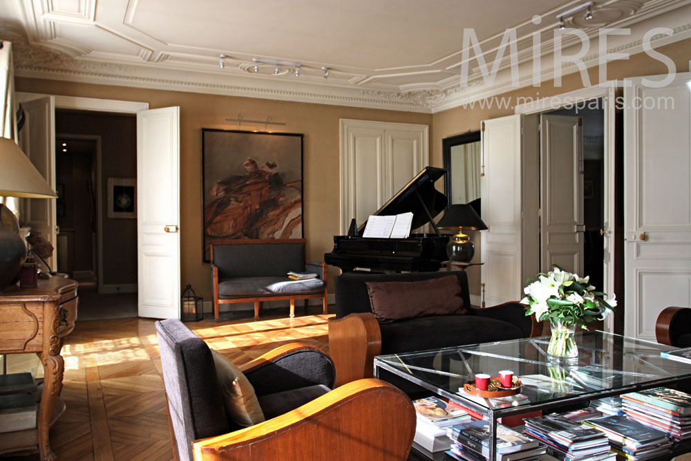 Art Deco Living Room With A Piano C0851 Mires Paris