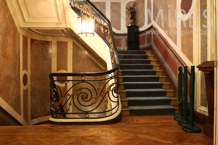 Marble grand staircase. C0856