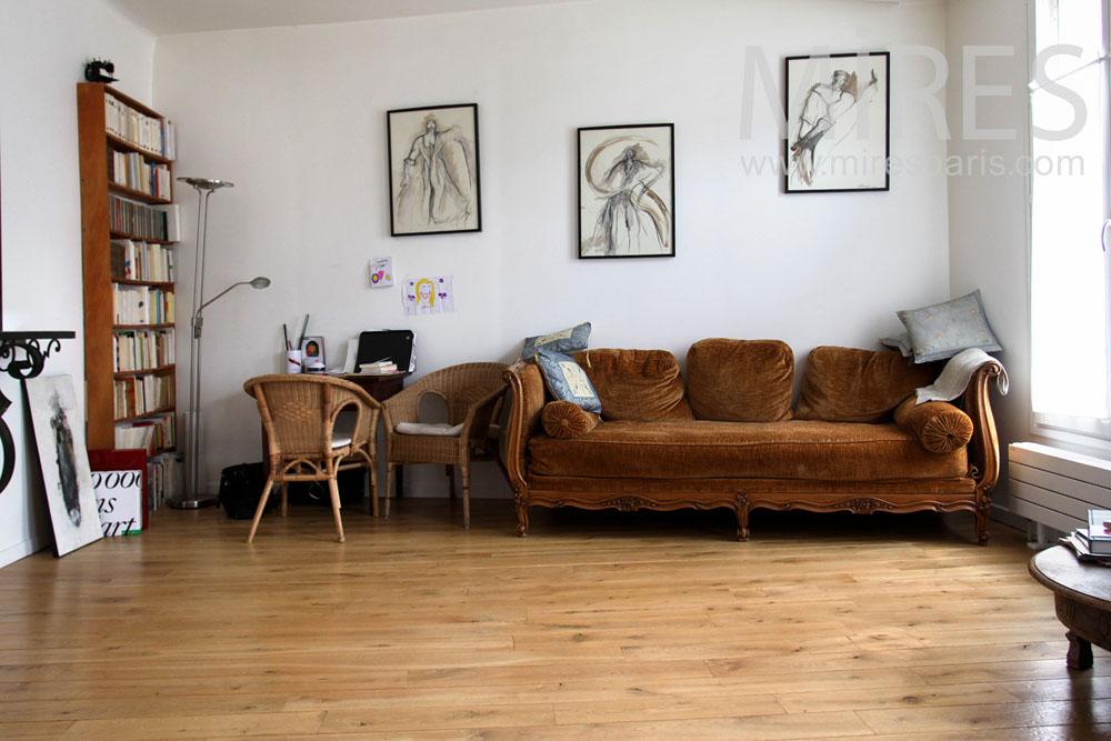 Salon avec cheminée moderne. C0855 | Mires Paris
