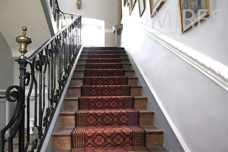 Stairs and red carpet. C0866