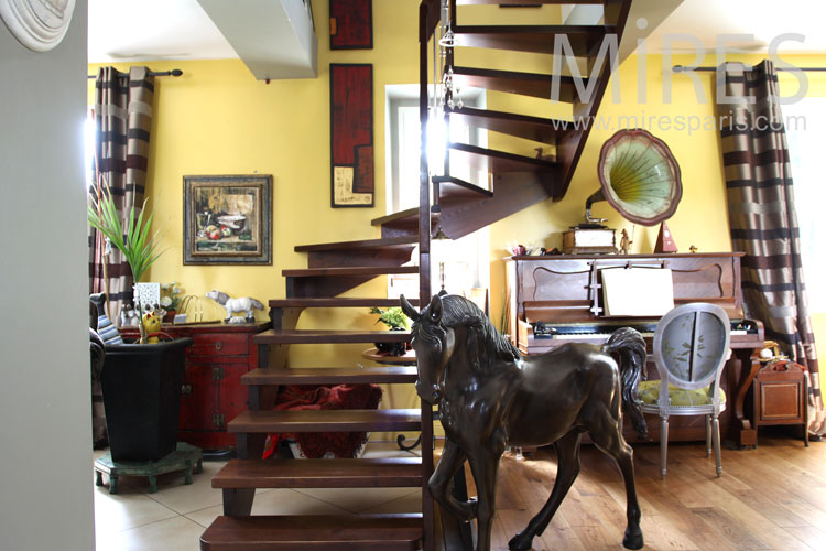 Escalier colimaçon. C0894