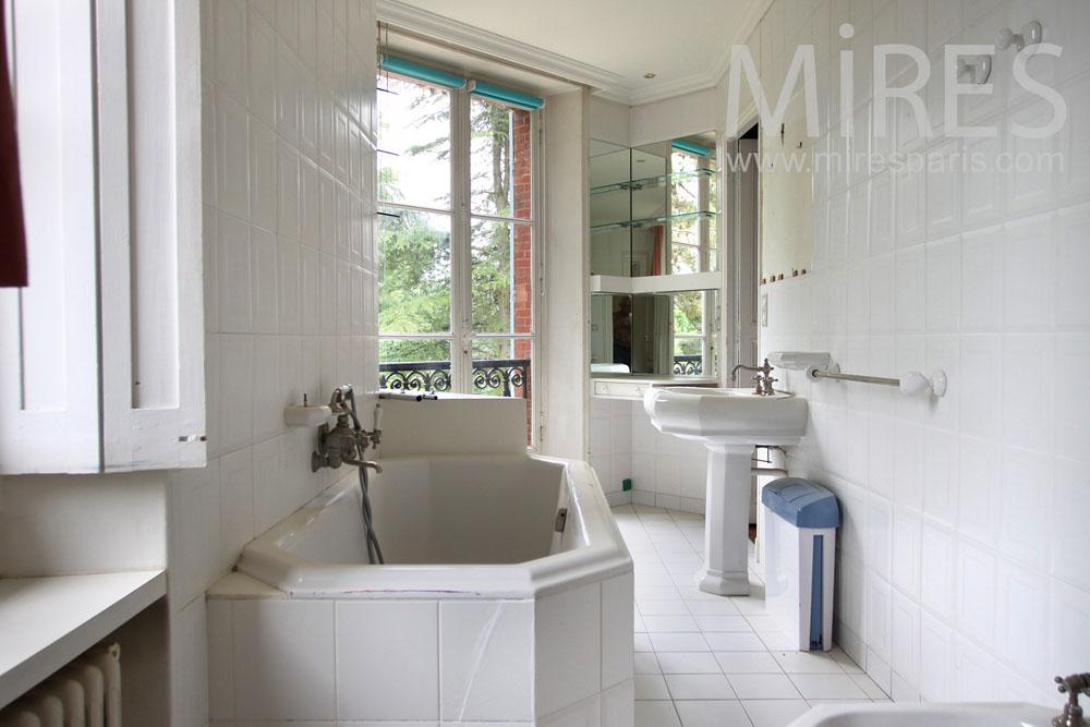 Petit salle de bains en longueur c0630 mires paris - Salle de bain en longueur ...
