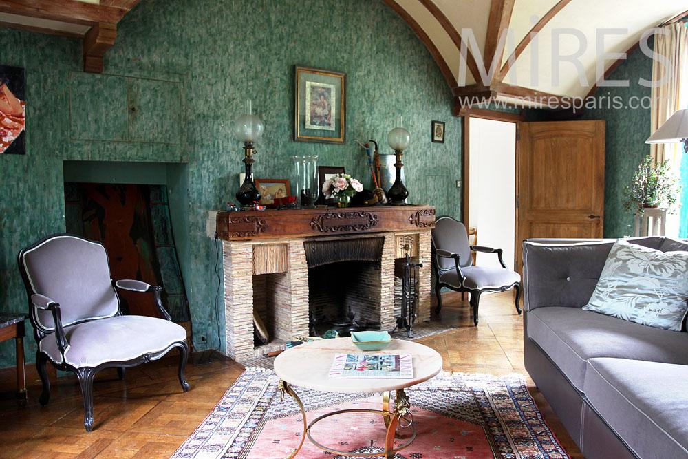 Petit salon avec cheminée. C0896