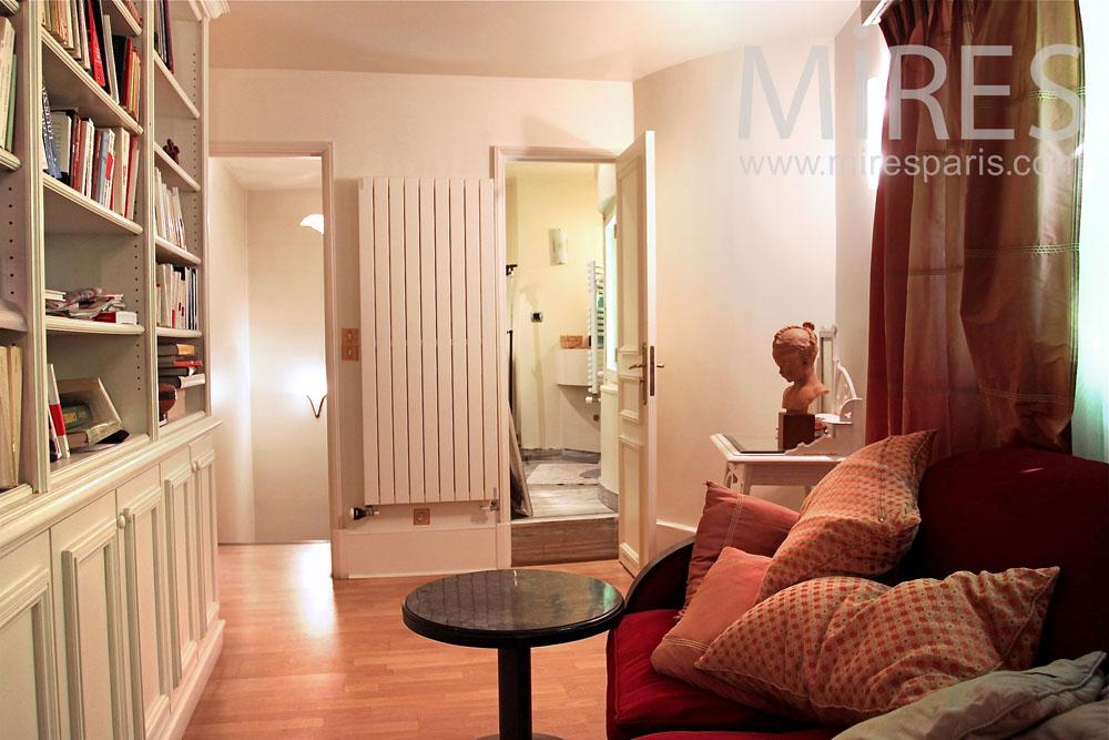 Chambre salon de lecture avec salle de bains c0907 mires paris - Salon de la salle de bain paris ...