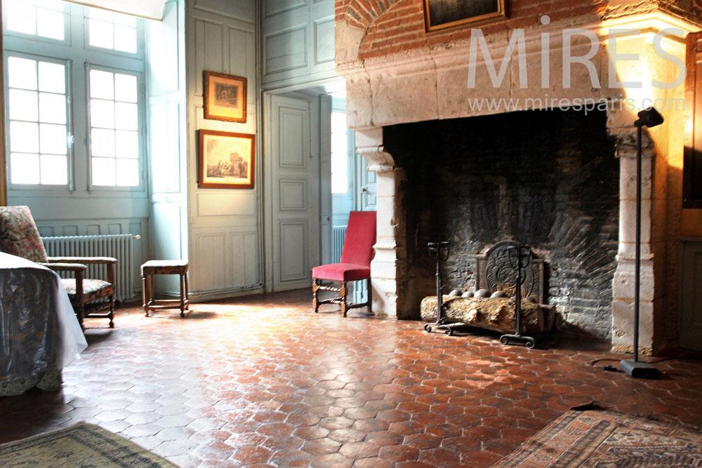 Chambre royale au coin du feu. C0890