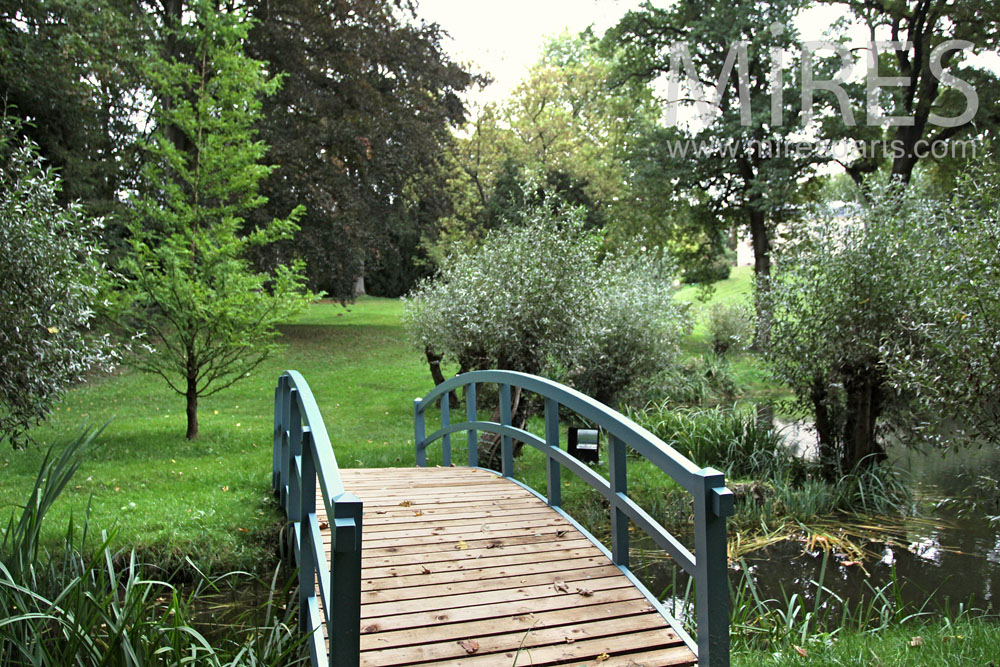 Little wooden bridge to across the water. C0926