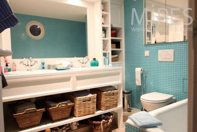Chambre d enfant et salle de bains mosa que c0949 mires paris - Temperature salle de bain pour bebe ...