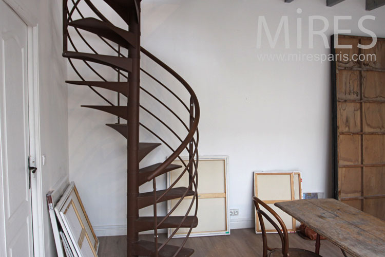 Metal staircase. c0976