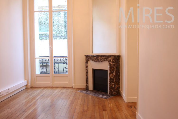 Marble fireplace angle. C1004