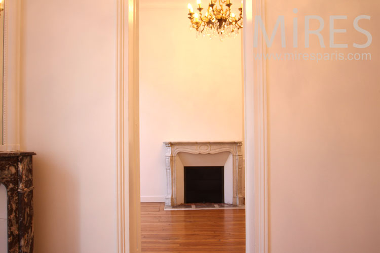 Simple classic fireplace. C1004