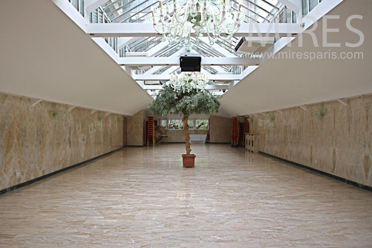 Reception hall with marble. C1008