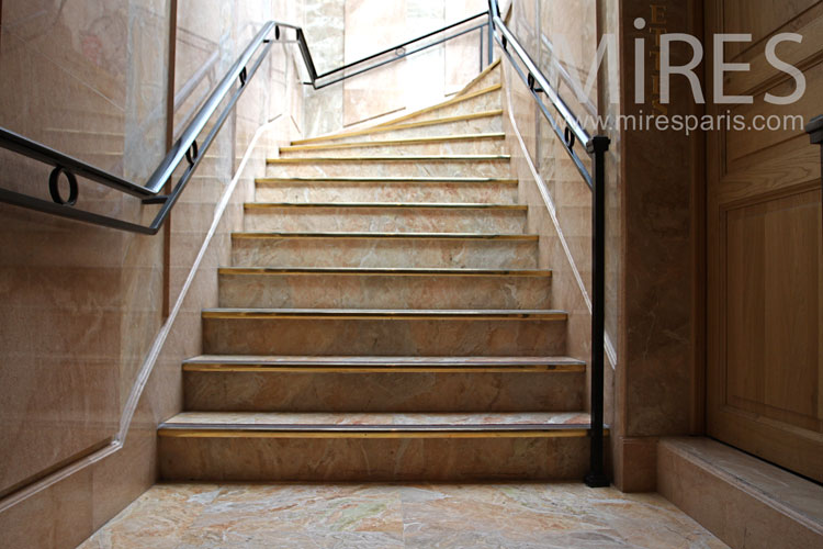 Marble staircase. C1009