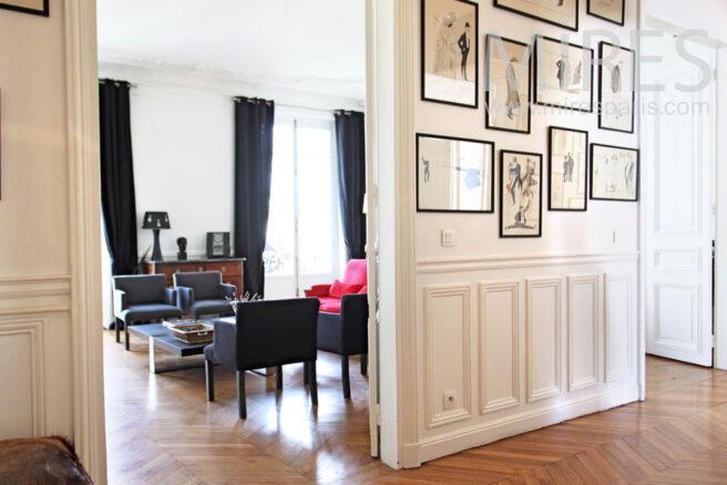 appartement parisien chic et spacieux c1022 mires paris. Black Bedroom Furniture Sets. Home Design Ideas