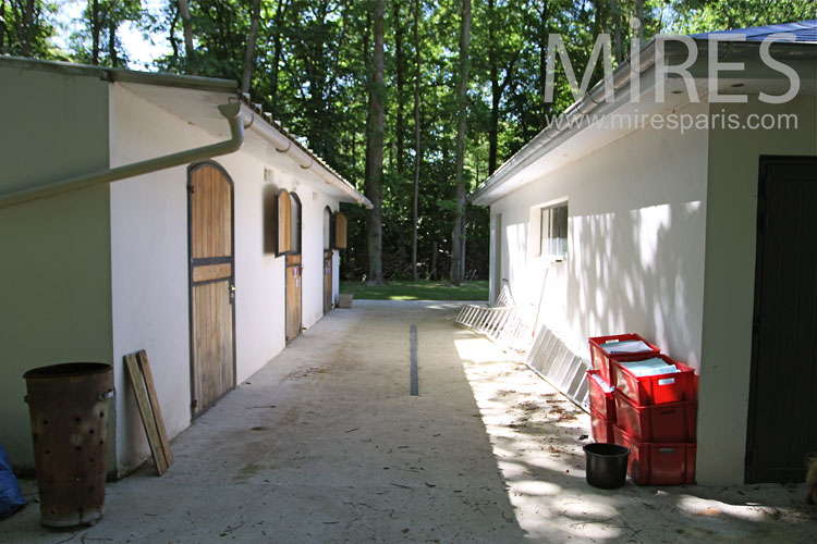 Stables converted into storage. c1032