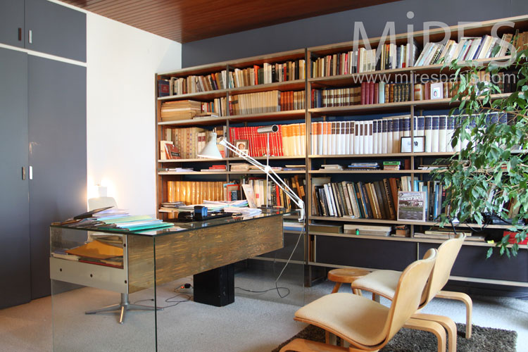 Extrêmement Bureau design et bibliothèque classique. C1039 | Mires Paris TJ73