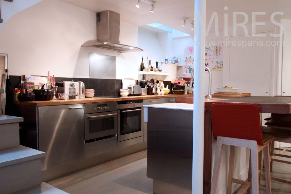 Kitchen downstairs. C1040