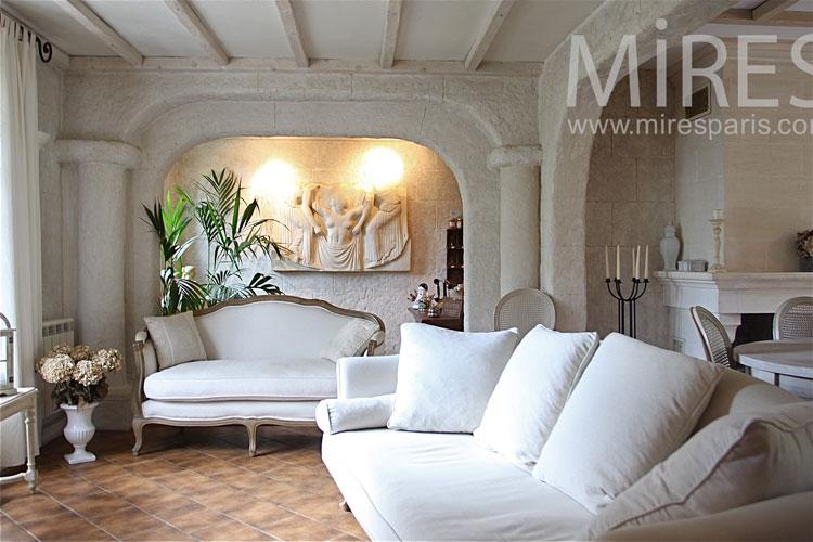 C1042 mires paris for Petit salon blanc