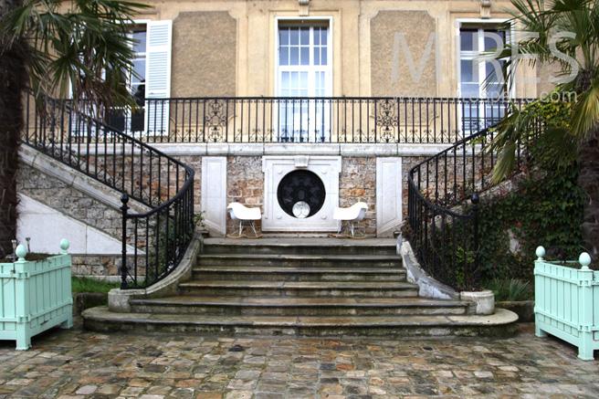 escalier double entr e au ch teau c1086 mires paris. Black Bedroom Furniture Sets. Home Design Ideas