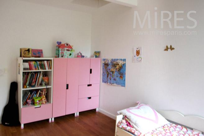 Chambre Bebe Hibou : Chambre à coucher pour petite fille modèle C1088