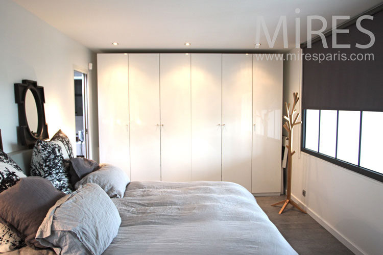Interesting chambre parentale grise c with chambre parentale grise for Peinture chambre parent nanterre