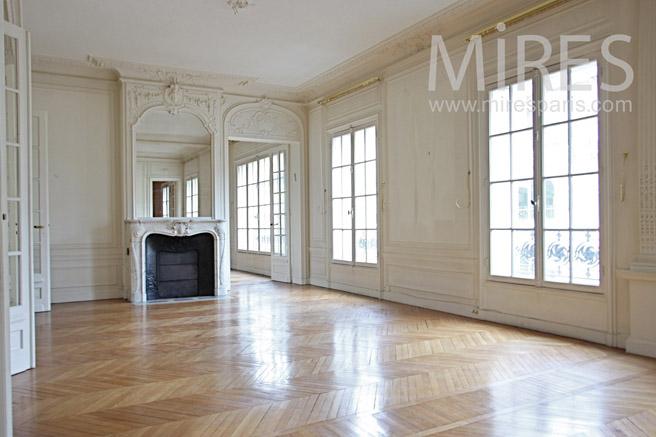 grand salon lumineux et chaleureux c1102 mires paris. Black Bedroom Furniture Sets. Home Design Ideas