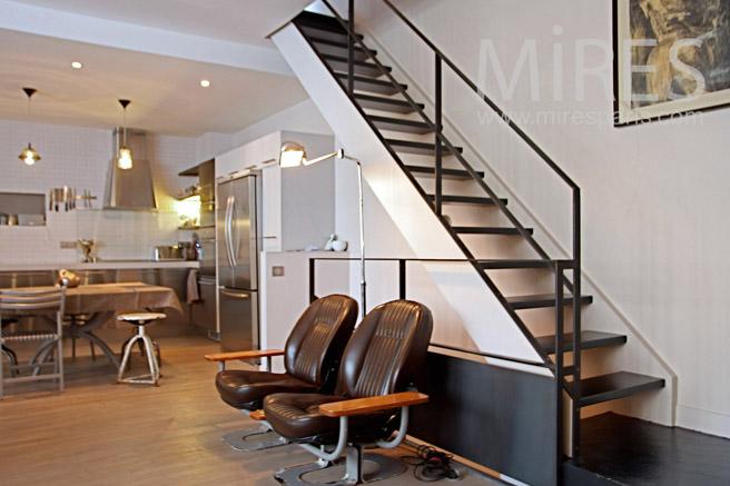 Modern meunier stairway. C1105