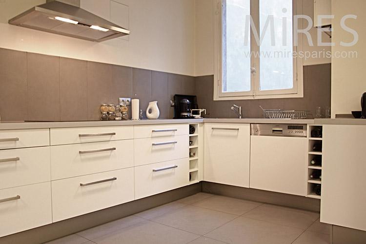 Emejing Faience Cuisine Beige Ideas - House Design - marcomilone.com