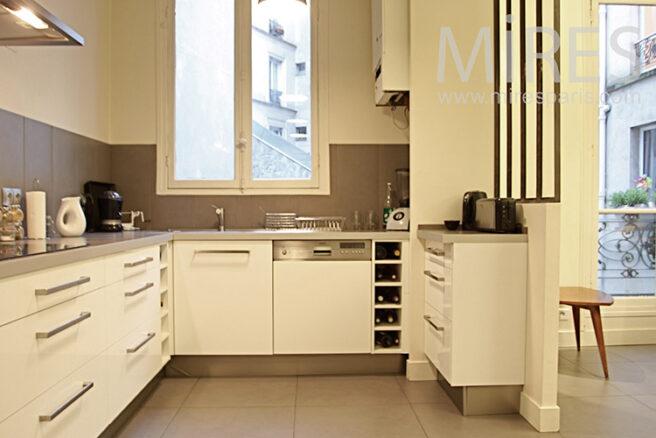D coration cuisine moderne beige for Cuisine beige et marron