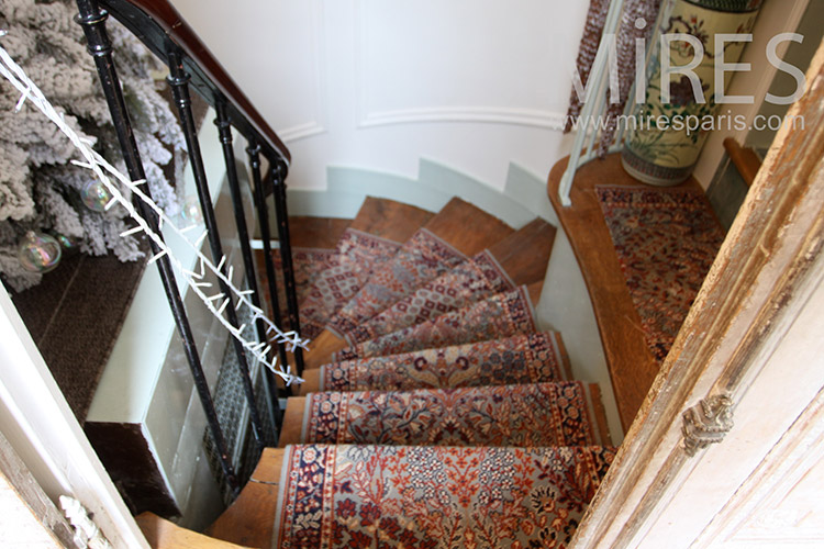 Stairs with carpet. C1124