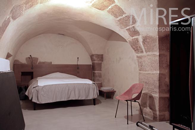Underground, Bedroom with old stone. C1122