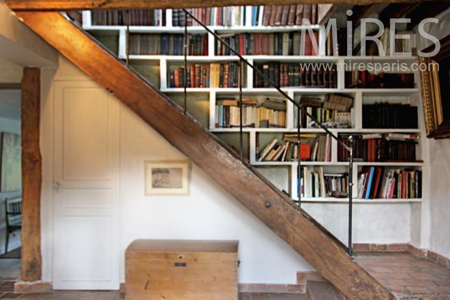Escalier Bibliothèque. C0231   Mires Paris