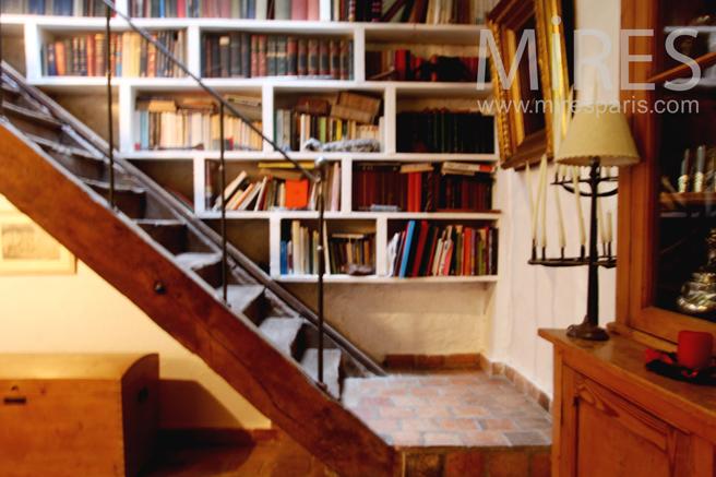 Escalier bibliothèque. C0231