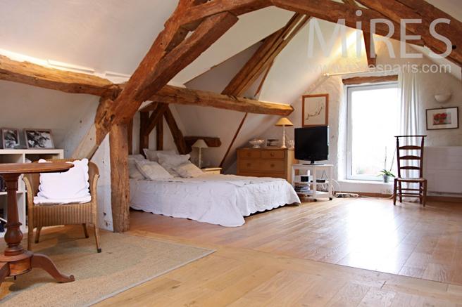 Chambre parentale ossature bois. C0231