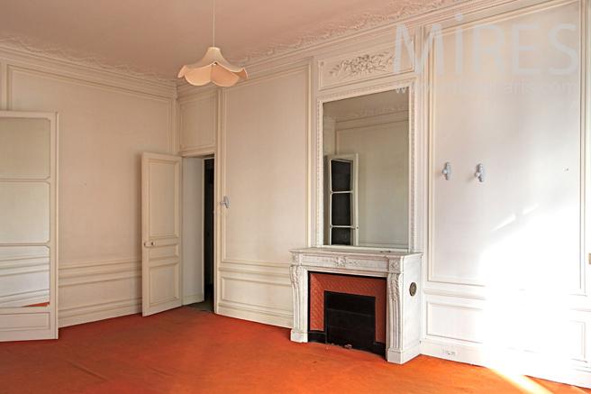 Orange bedroom. C1146